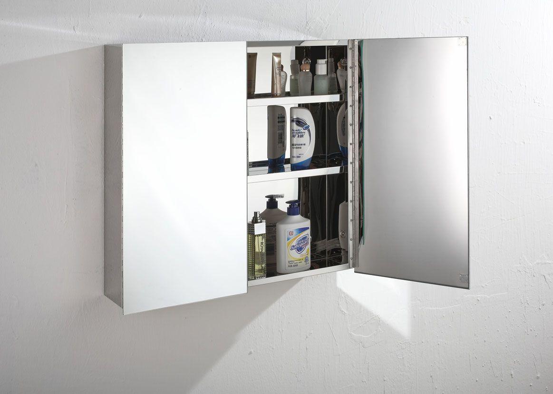 Madrid 610mm X 600mm Double Door Mirror Bathroom Wall Cabinet