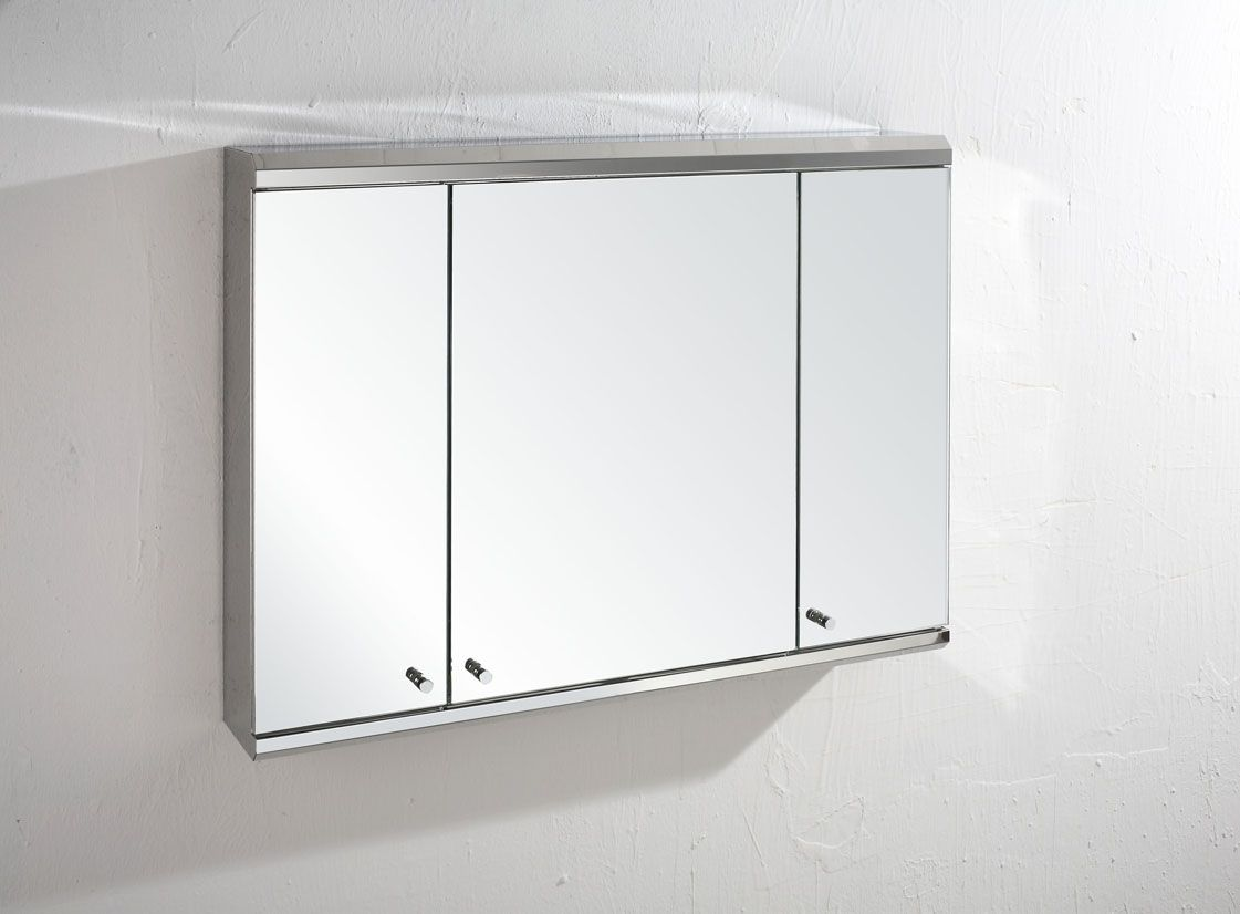Vienna single door mirrored cabinet