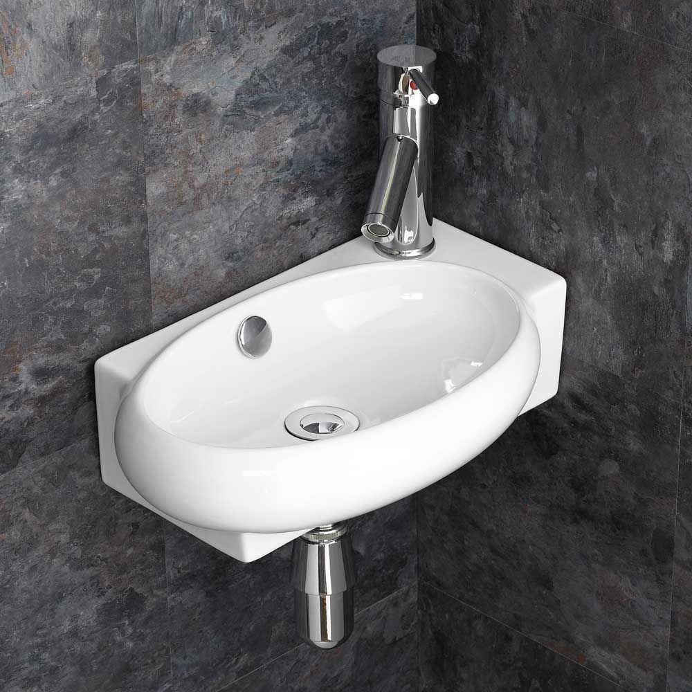 Lecce 270mm Narrow Corner Right Hand Bathroom Basin Tap