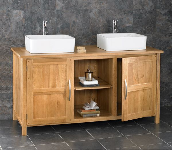 Excellent Double Basin Large Oak Vanity Cabinet Choice Of Basin Sets Ohio130 Home Remodeling Inspirations Genioncuboardxyz