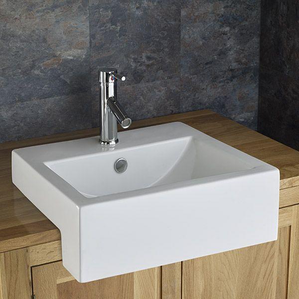 Vienna Countertop Rectangular Inset Washbasin Sink Semi