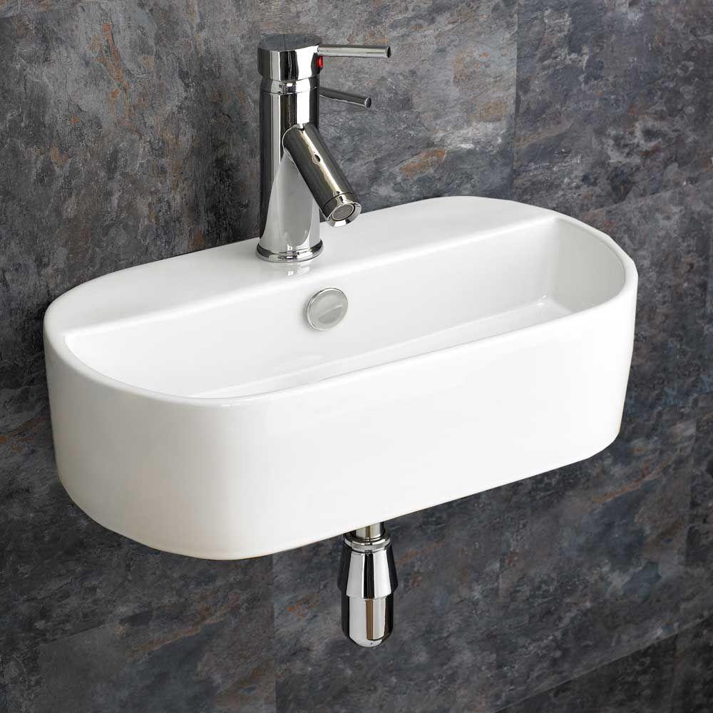Modern Sienna 445mm X 305mm Bathroom Basin Wall Mounted