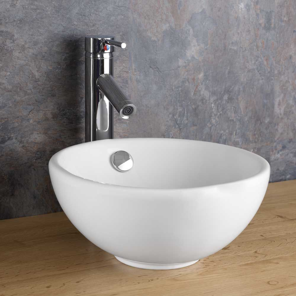 300mm Surface Mounted Round Ceramic Stabia Counter Top ...