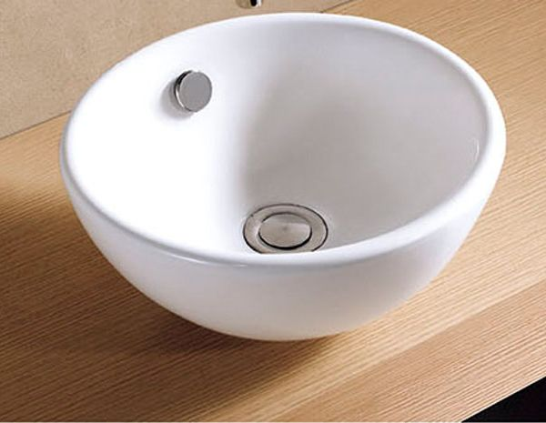 300mm Surface Mounted Round Ceramic Stabia Counter Top Bathroom Basin