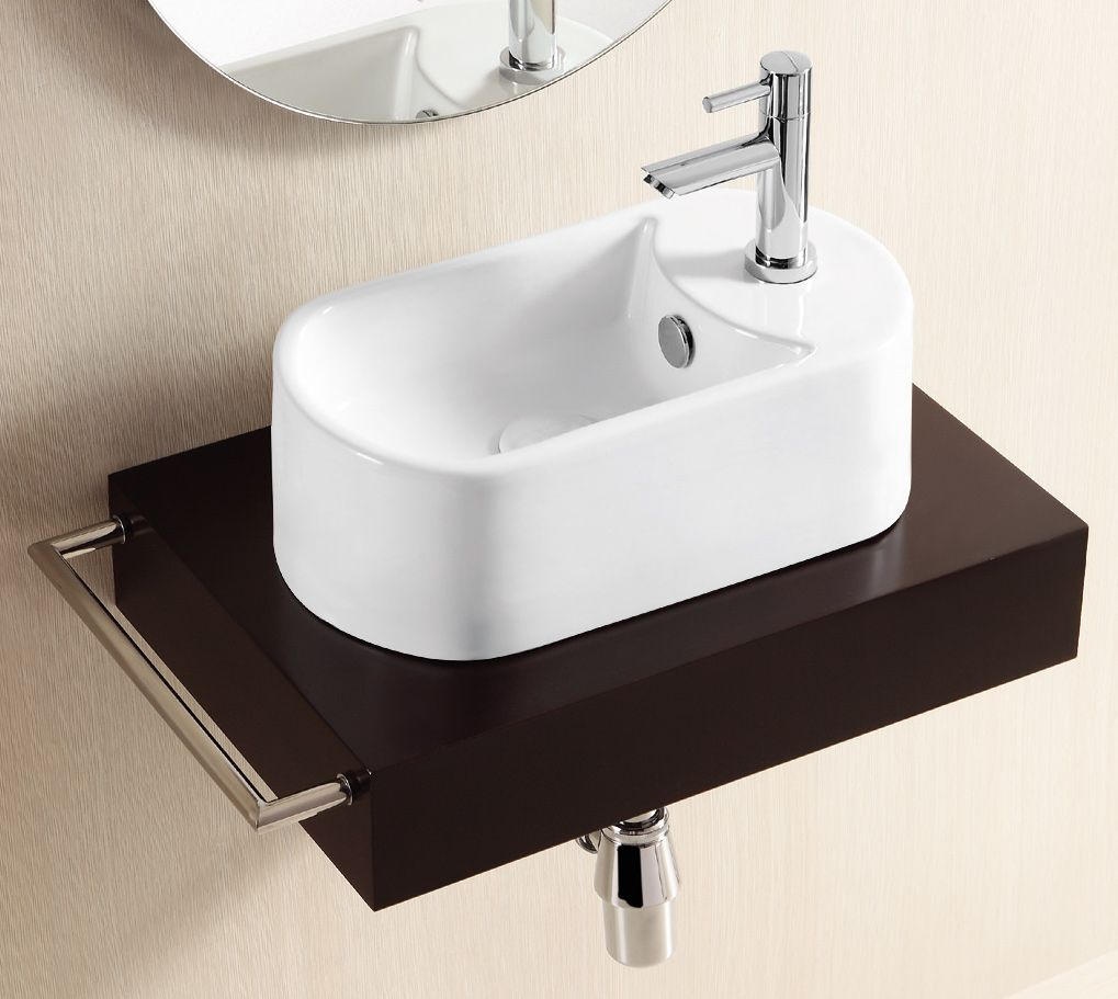 400mm by 230mm teramo compact narrow bathroom basin with. Black Bedroom Furniture Sets. Home Design Ideas