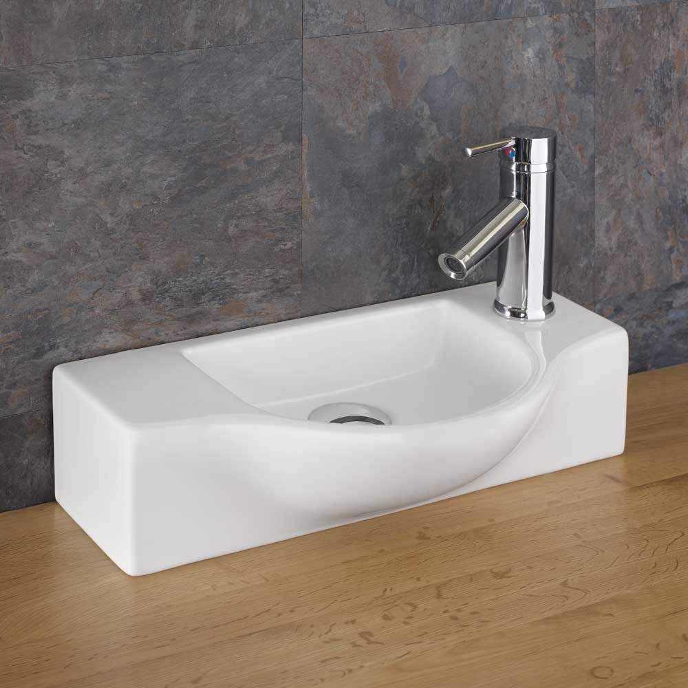 440mm Viterbo Counter Top Ceramic Compact Basin Great For