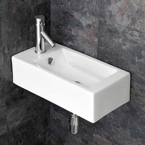 Rectangular 500mm Corner Basin For Bathroom Or En Suite Lucca