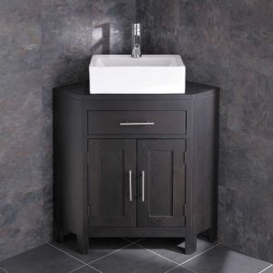 Barletta Sink Alta Large Two Door Wenge Oak Corner