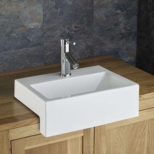 Anadia Countertop Semi Recessed Sink Bathroom Sink