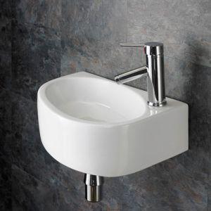 Right Hand Wall Hung Balsamo 420mm X 290mm Bathroom Basin