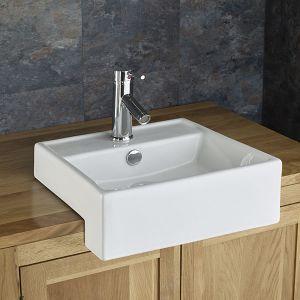 Gandra Countertop Surface Mounted Sink Basin Semi Recessed Basin