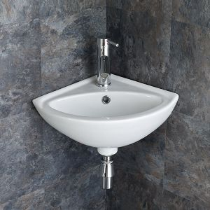 Madeira Wall Mounted Cloakroom Corner Basin 34cm By 34cm