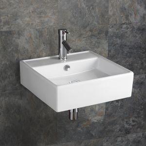 Napoli White Square Ceramic Basin 460 Mm X 460 Mm Sink