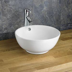 Nord Countertop Round Ceramic White Washbasin Sink