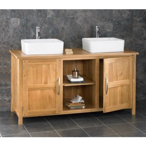 Phenomenal Double Basin Large Oak Vanity Cabinet Choice Of Basin Sets Ohio130 Complete Home Design Collection Papxelindsey Bellcom