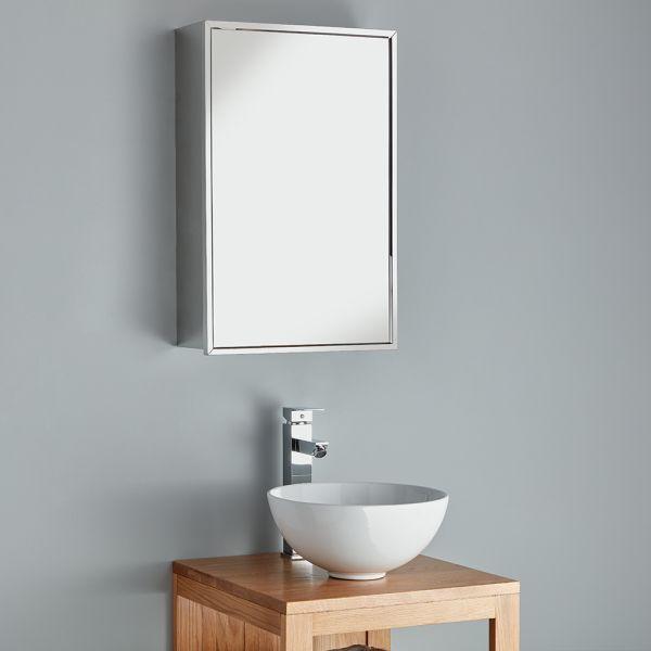 Shelf 400mm Bathroom Mirror Cabinet, Bathroom Mirror Storage
