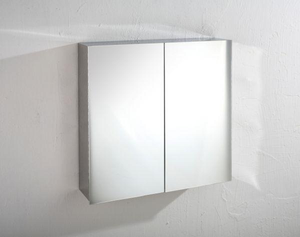 Double Door Mirror Bathroom Wall Cabinet Square 610mm X 600mm Madrid