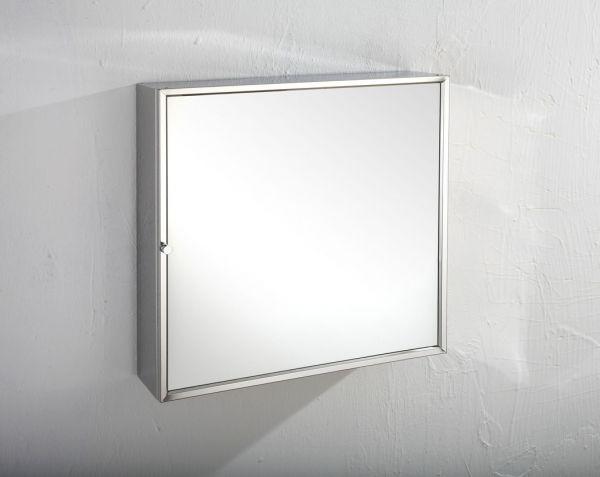 san francisco 5c79c b088a Square Single Door Wall Mirror Bathroom Storage Cabinet 500mm SEVILLE