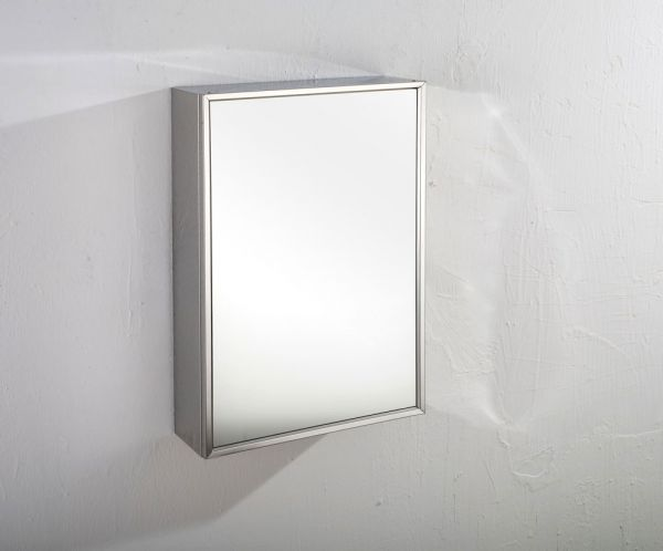 Terrific Single Door Tall Mirror Bathroom Wall Cabinet 400Mm X 600Mm Almeria Download Free Architecture Designs Estepponolmadebymaigaardcom