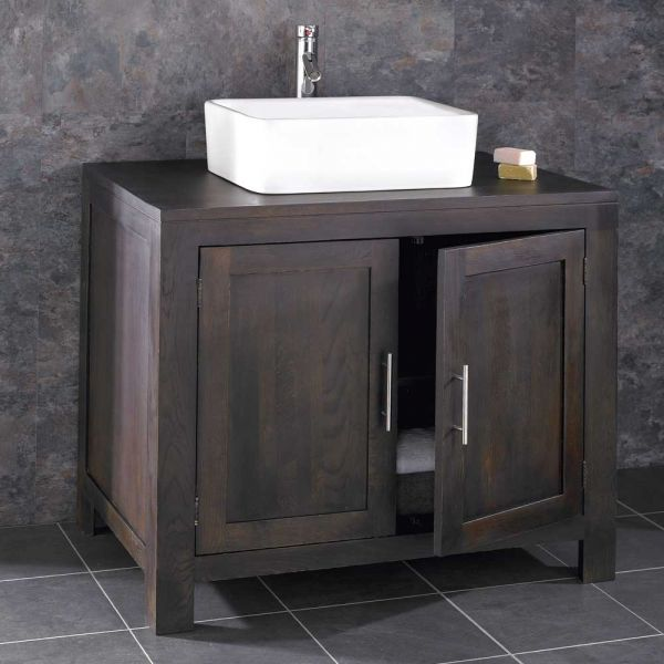 Prime Large 900Mm Dark Wenge Oak Bathroom Vanity Cabinet Choice Of Basin Set Alta90W Complete Home Design Collection Papxelindsey Bellcom