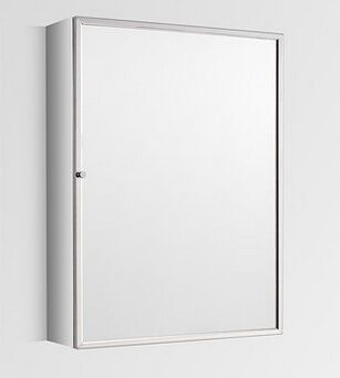 Excellent Tall Single Door Mirror Bathroom Wall Cabinet 500Mm X 700Mm Almeria Download Free Architecture Designs Estepponolmadebymaigaardcom