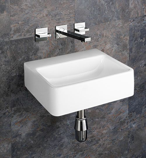 Elana 40cm X 30cm Wall Mounted No Tap Hole Rectangular
