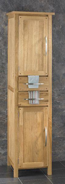 Ohio Solid Oak 180mm Tall 2 Drawer 2 Door Storage