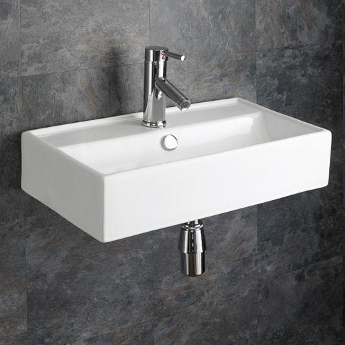 Perugia 550mm X 310mm White Wall Hung Rectangular Modern