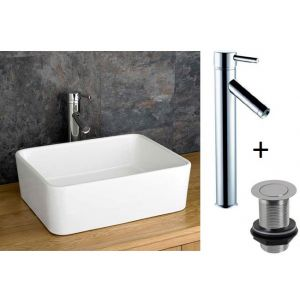 Trieste Basin Tap And Waste Set