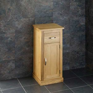 Small Cube Compact Solid Oak Bathroom Storage Cabinet 370mm by 350mm CUBE37