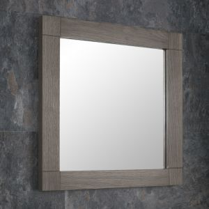 Grey Wash Solid Oak 450mm Square Wall Hung Mirror