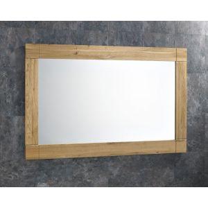 Large Solid Oak Wall Hung Bathroom Mirror Portrait or Landscape 900mm by 600mm