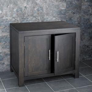 Large Wenge Dark Oak Vanity Storage Cabinet 900mm Ideal for any Room Alta