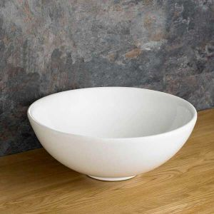White Large Round Bathroom Bowl Above Counter 400mm Diameter AREZZO