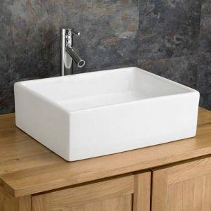 Large Above Counter Rectangular Bathroom Basin 470mm x 370mm CATANZARO