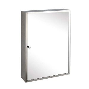 Single Door Wall Mirror Bathroom Storage Cabinet 400mm x 600mm MONACO