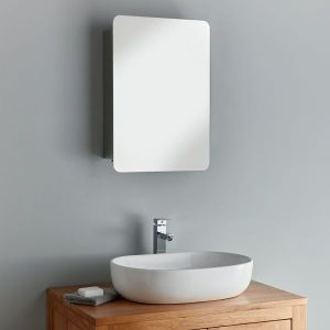 Large Sliding Door Bathroom Mirror Cabinet 660mm x 460mm Valencia