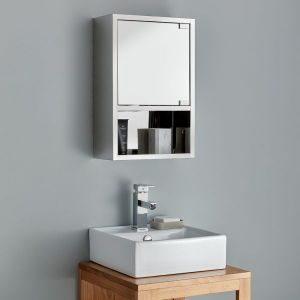 Small stainless steel bathroom cabinet
