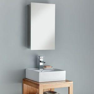 The narrow Paris Mirrored Bathroom Cabinet