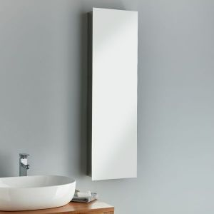 Large Tall Narrow Mirror Bathroom Wall Cabinet 360mm x 1200mm LILLE