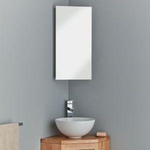 Reims 300mm corner cabinet with internal mirror