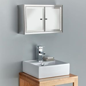 Two Door 500mm Wall Hung Mirror Bathroom Cabinet Nancy