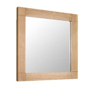 Wall Hung 600mm x 600mm Bathroom Mirror Solid Oak Framed High Quality