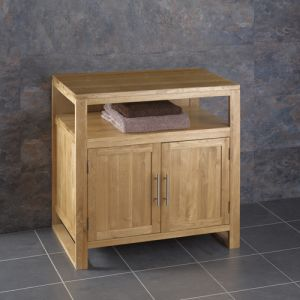 Cube 750mm bathroom cabinet with open shelf