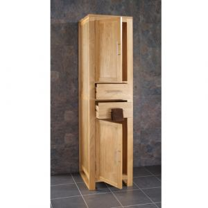 Cube Tall Solid Oak Unit