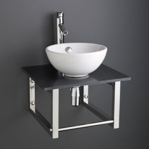 300mm Basin and 450mm Marble Shelf Set
