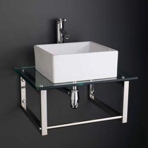 Basin and Glass Shelf Set