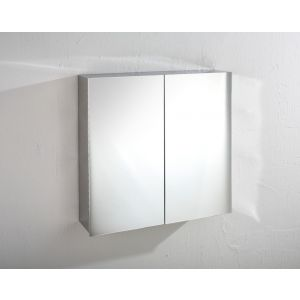 Double Door Mirror Bathroom Wall Cabinet Square 610mm x 600mm MADRID