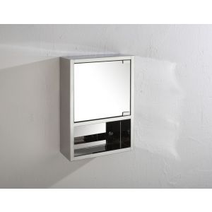 Seville Single Door Mirror Wall Cabinet