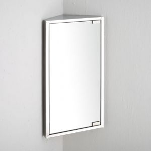 Bilbao Single Door Corner  Mirror Wall Cabinet